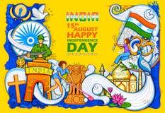 Indisk bakgrund som visar dess oerhörda kultur och mångfald med monument-, dans- och festivalberöm för 15th Arkivbilder