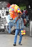 Indisk ballongsäljare Arkivbilder