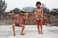 Indisk barndom Royaltyfria Foton