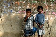 Indisk barnstatus Arkivbild