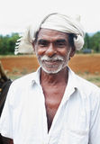 Indisk bonde Arkivfoto