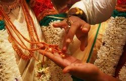 Indisk bröllopceremoni, detaljer av traditionellt indiskt bröllop arkivfoto