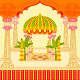 Indisk bröllopmandap stock illustrationer