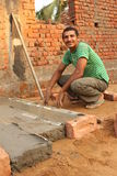 Indisk byggnadsarbetare Arkivbilder