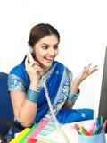 indisk chefbeskärning för kvinnlig Arkivbilder
