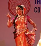 Indisk dansare Arkivbilder