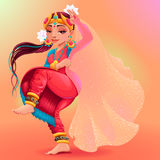 Indisk dansare som föreställer skyla av Maya Arkivbilder