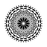 Indisk dekorativ modell för vektor Rund modell i form av mandalaen stock illustrationer