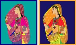 Indisk drottning-/prinsessastående Royaltyfria Foton