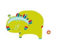 Indisk elefant Arkivbilder