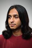 Indisk etnisk man i profil Arkivbilder