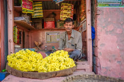 Indisk försäljare Arkivbilder