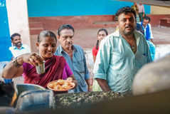 Indisk försäljare Arkivbild
