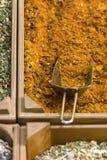 Indisk försäljning för varma kryddor på marknad Royaltyfria Bilder