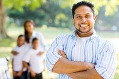 Indisk faderfamilj Fotografering för Bildbyråer