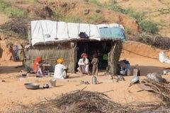 Indisk familj pushkar india Royaltyfria Bilder