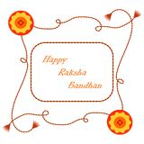 Indisk ferieRaksha Bandhan vektor stock illustrationer