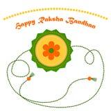 Indisk ferieRaksha Bandhan vektor Vektor Illustrationer