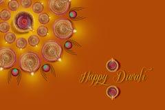 Indisk festival Diwali, Diwali lampdesign Royaltyfria Foton