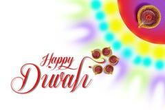 Indisk festival Diwali, Diwali lampdesign Royaltyfri Fotografi