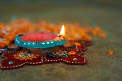 Indisk festival Diwali, Diwali lampdesign Royaltyfri Bild