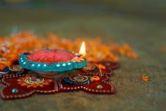 Indisk festival Diwali, Diwali lampdesign Royaltyfria Bilder