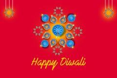 Indisk festival Diwali, lampdesign arkivbild