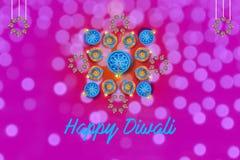 Indisk festival Diwali, lampdesign arkivfoton