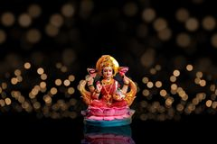 Indisk festival Diwali, Laxmi Pooja royaltyfria foton