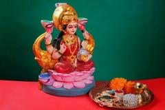 Indisk festival Diwali, Laxmi Pooja arkivbilder