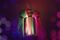 Indisk festival Diwali, lykta royaltyfria bilder
