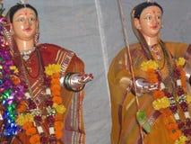 Indisk festival Mahalakshmi arkivfoton