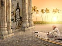 Indisk fiskare Arkivbild