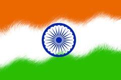 Indisk flagga Arkivfoto