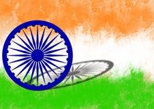 Indisk flagga på självständighetsdagen av Indien royaltyfri foto