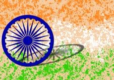 Indisk flagga på självständighetsdagen av Indien royaltyfri bild