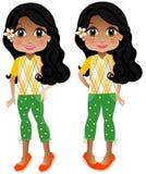 Indisk flicka royaltyfri illustrationer
