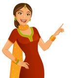 Indisk flicka vektor illustrationer