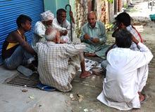 indisk folkby för klubba Arkivbild