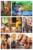 indisk folkplatsgata Fotografering för Bildbyråer
