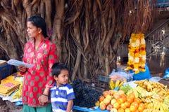 Indisk frukt- och grönsakstall Royaltyfria Bilder