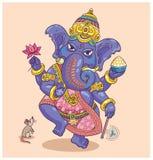 Indisk gud Ganesha vektor illustrationer