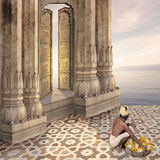 Indisk guld- dörr Arkivbild