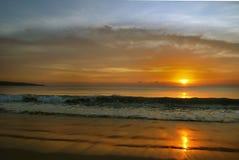 indisk havsolnedgång Royaltyfria Bilder