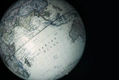 indisk havvärld för jordklot Royaltyfri Fotografi