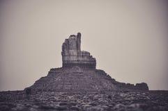 Indisk Head Butte i monumentdalen Royaltyfria Bilder