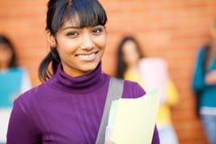 Indisk högskolestudent Arkivbild