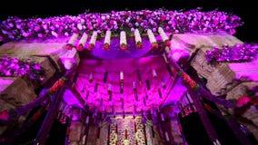 Indisk hinduisk gifta sig Mandap dekor stock video