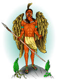 Indisk indian med vingar Royaltyfria Bilder