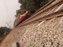 indisk järnväg Arkivbilder
